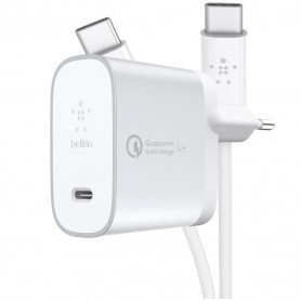 PACK CHARGEUR SECTEUR POWER DELIVERY 27W USB-C METALLIC + CABLE USB-C VERS USB-C - BELKIN