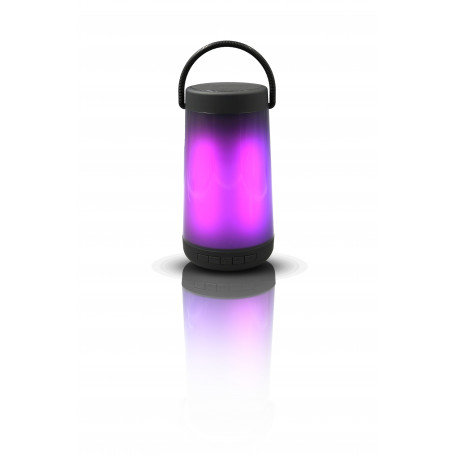 ENCEINTE BLUETOOTH 5W + LED MULTICOLOR + RADIO FM + SLOT MEMOIRE