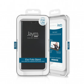 ETUI FOLIO STAND NOIR JAYM COMPATIBLE HUAWEI P30 LITE