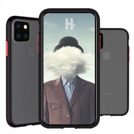 COQUE PEACH GARDEN BI-MATIERE AVEC DOS FUME POUR APPLE IPHONE 6.5 2019 NOIRE