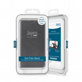 ETUI FOLIO STAND NOIR JAYM COMPATIBLE APPLE IPHONE 11