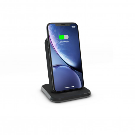 CHARGEUR INDUCTION STAND FULL ALUMINIUM NOIR - FAST CHARGE QI UNIVERSEL 10W ZENS
