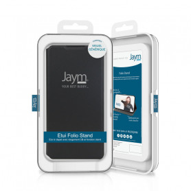 ETUI FOLIO STAND NOIR JAYM COMPATIBLE GALAXY A2 CORE