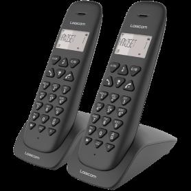 TELEPHONE DECT VEGA255T 2 POSTES AVEC REPONDEUR NOIR - LOGICOM