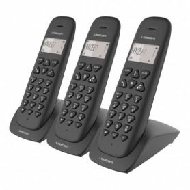 TELEPHONE DECT VEGA355T 3 POSTES AVEC REPONDEUR NOIR - LOGICOM
