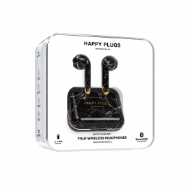ECOUTEURS TRUE WIRELESS AIR 1 MARBRE NOIR - HAPPY PLUGS®