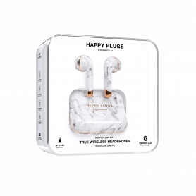 ECOUTEURS TRUE WIRELESS AIR 1 MARBRE BLANC - HAPPY PLUGS®