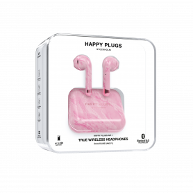 ECOUTEURS TRUE WIRELESS AIR 1 MARBRE ROSE - HAPPY PLUGS®