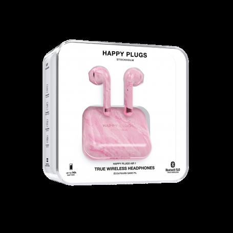 ECOUTEURS TRUE WIRELESS AIR 1 MARBRE ROSE - HAPPY PLUGS®