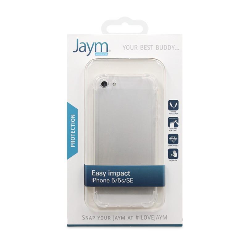 COQUE RENFORCEE TRANSPARENTE JAYM COMPATIBLE APPLE IPHONE 5 / 5S / SE