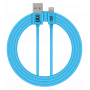 CABLE 2M CHARGE & SYNCHRO USB VERS LIGHTNING MFI - BLEU - JUICE®
