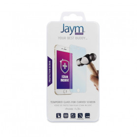 FILM ECRAN VERRE TREMPE INCURVE JAYM COMPATIBLE APPLE IPHONE 7+ / 8+