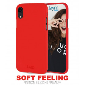 COQUE PREMIUM SOFT FEELING COMPATIBLE APPLE IPHONE XR ROUGE