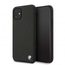 COQUE SILICONE NOIRE AVEC SIGLE BMW COMPATIBLE APPLE IPHONE 11 - BMW®