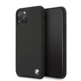 COQUE SILICONE NOIRE AVEC SIGLE BMW COMPATIBLE APPLE IPHONE 11 PRO - BMW®