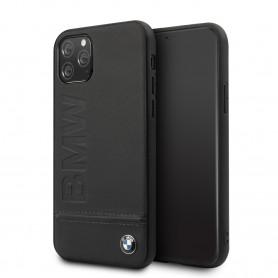 COQUE SIMILI CUIR NOIRE AVEC SIGLE BMW COMPATIBLE APPLE IPHONE 11 PRO - BMW®