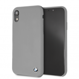 COQUE SILICONE GRISE COMPATIBLE APPLE IPHONE XR - BMW®