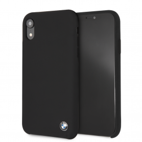 COQUE SILICONE NOIRE COMPATIBLE APPLE IPHONE XR - BMW®