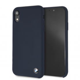 COQUE SILICONE BLEUE COMPATIBLE APPLE IPHONE XR - BMW®