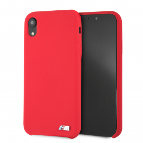 COQUE SILICONE ROUGE AVEC SIGLE BMW M SPORT COMPATIBLE APPLE IPHONE XR - BMW®