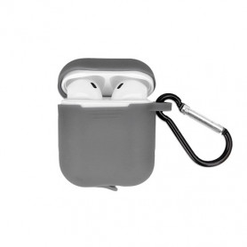 ETUI SOFT TOUCH SILICONE POUR APPLE AIRPODS GRIS