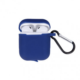 ETUI SOFT TOUCH SILICONE POUR APPLE AIRPODS BLEU