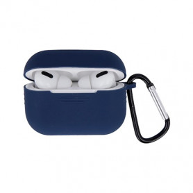 ETUI SOFT TOUCH SILICONE POUR APPLE AIRPODS PRO BLEU