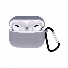 ETUI SOFT TOUCH SILICONE POUR APPLE AIRPODS PRO GRIS