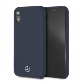 COQUE SILICONE BLEUE COMPATIBLE APPLE IPHONE XR - MERCEDES®