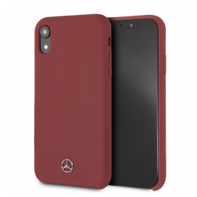 COQUE SILICONE ROUGE COMPATIBLE APPLE IPHONE XR - MERCEDES®
