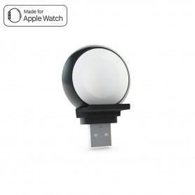 CHARGEUR APPLE WATCH INDUCTION CONNECTEUR USB - ALUMINIUM - ZENS