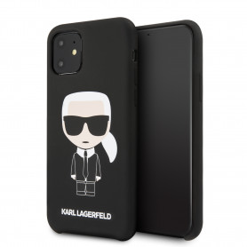 COQUE SILICONE NOIRE MOTIF KARL LAGERFELD COMPATIBLE APPLE IPHONE 11 - KARL®