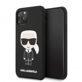COQUE SILICONE NOIRE MOTIF KARL LAGERFELD COMPATIBLE APPLE IPHONE 11 PRO - KARL®