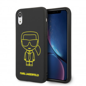 COQUE TPU NOIRE MOTIF KARL LAGERFELD COMPATIBLE APPLE IPHONE XR - KARL®