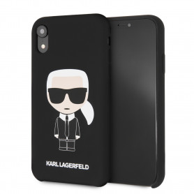 COQUE SILICONE NOIRE MOTIF AVATAR KARL LAGERFELD COMPATIBLE APPLE IPHONE XR - KARL®