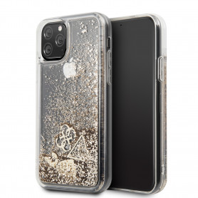 COQUE BI-MATIERE AVEC PAILLETTES FLOTTANTES COMPATIBLE APPLE IPHONE 11 PRO - GUESS®