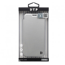 ETUI CRYSTAL FOLIO SILVER COMPATIBLE APPLE IPHONE X DYP