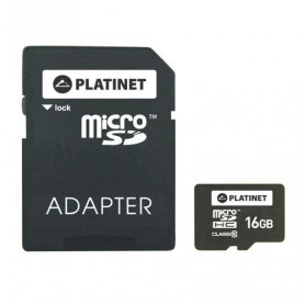 CARTE MEMOIRE MICRO SDHC CLASS 10 70Mb/s - 16GB - PLATINET