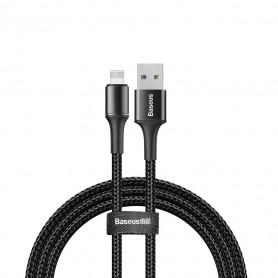 CABLE TRESSÉ USB VERS LIGHTNING NOIR 2M - BASEUS