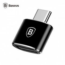 MINI ADAPTATEUR USB FEMELLE VERS TYPE-C MALE - BASEUS