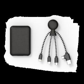 PACK BIO BATTERIE 5 000mAh + CABLE 5-EN-1 USB / TYPE-C  / MICRO-USB / LIGHTNING NOIR - XOOPAR