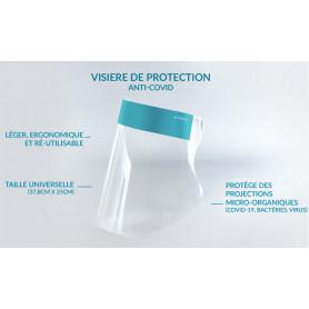 VISIERE DE PROTECTION UNIVERSELLE - ANTI PROJECTIONS BACTERIOLOGIQUES ET VIRALES