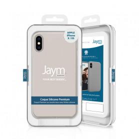 COQUE PREMIUM SILICONE ET MICROFIBRE POUR APPLE IPHONE X / XS BEIGE - JAYM® CLASSIC®