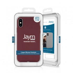 COQUE PREMIUM SILICONE ET MICROFIBRE POUR APPLE IPHONE X / XS VIOLET - JAYM® CLASSIC®