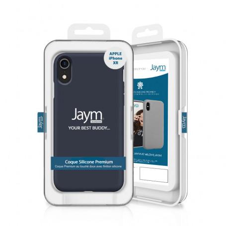 COQUE PREMIUM SILICONE ET MICROFIBRE POUR APPLE IPHONE XR BLEUE - JAYM® CLASSIC®