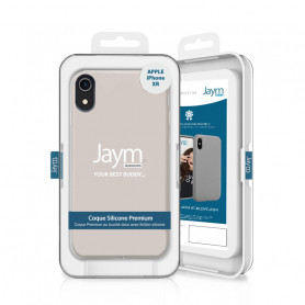 COQUE PREMIUM SILICONE ET MICROFIBRE POUR APPLE IPHONE XR BEIGE - JAYM® CLASSIC®