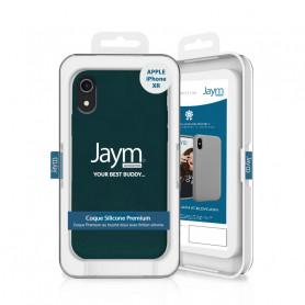COQUE PREMIUM SILICONE ET MICROFIBRE POUR APPLE IPHONE XR OLIVE - JAYM® CLASSIC®
