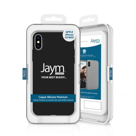 COQUE PREMIUM SILICONE ET MICROFIBRE POUR APPLE IPHONE XS MAX NOIRE - JAYM® CLASSIC®