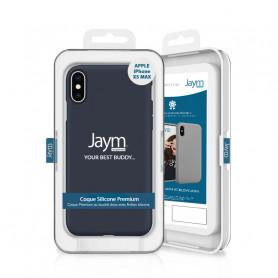 COQUE PREMIUM SILICONE ET MICROFIBRE POUR APPLE IPHONE XS MAX BLEUE - JAYM® CLASSIC®