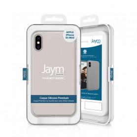 COQUE PREMIUM SILICONE ET MICROFIBRE POUR APPLE IPHONE XS MAX BEIGE - JAYM® CLASSIC®